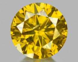 0.32 Cts Sparkling Rare Fancy Vivid Yellow Color Natural Loose Diamond