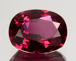 0.78Cts Natural Ruby Oval Unheated Africa