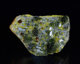 109 CT Ultra Rare Diopside With Red Andradite @Afghanistan