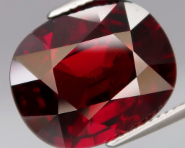16.38 Ct. Natural Earth Mined Top Red Rhodolite Garnet Africa Unheated