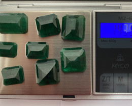 Lot of Natural Brazilian Emeralds - 143.5 cts - 8 pieces