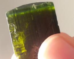 green cap tourmaline crystal
