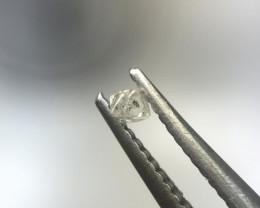 0.035 ct Fancy Light Grey I3 rough octahedron diamond crystal