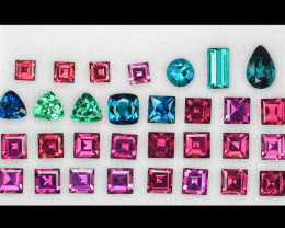 11.73 Cts 31 Pcs Un Heated Multi Color Natural Tourmaline Loose Gemstones