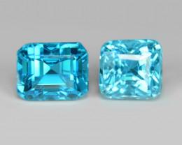 2.93 CTS 2 PCS BLUE ZIRCON NATURAL LOOSE GEMSTONE