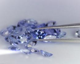 3.69 Cts 30 Pcs Amazing Rare Violet Blue Color Natural Tanzanite Gemstone