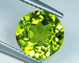 3.24ct  AAA  Grade Gem  Round Cut Top Luster Natural Peridot