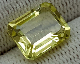3.25CT LEMON QUARTZ BEST QUALITY GEMSTONE IIGC001