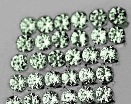 1.30 mm Round Machine Cut 80pcs Green Sapphire [VVS]