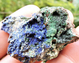 32.64g AZURITE ADAMITE MIXED SPECIMEN FROM LAVRION MINES GREECE