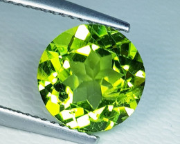 3.75 ct Top Quality Round Cut Top Luster Natural Peridot