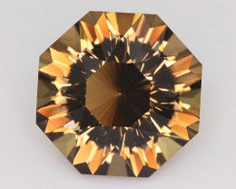 14.46CT~BOLIVIAN CITRINE~CUSTOM PRECISION CUT~SUNFLOWER
