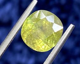 3.4 ct Fire Sphene Titanite Gemstone / GIL Certified