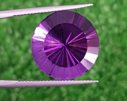 Laser Sparkling Cut Amethyst