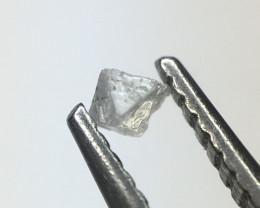 0.03 ct faint grey SI rough octahedron Diamond Crystal