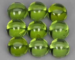 9.90~ CTS WONDERFUL~NATURAL PERIDOT 6.0mm CUSHION PARCEL 9 PCS~EXCELLENT!!
