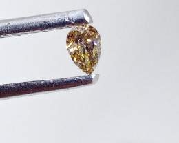 0.16ct  Fancy Intense Brown Green Diamond , 100% Natural Untreated