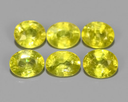 2.75 CTS NATURAL GREENISH-YELLOW SPHENE PARCEL 6 PCS~EXCELLENT!!