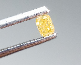 0.12ct  Fancy  Yellow Diamond , 100% Natural Untreated