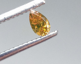 0.21ct Fancy Deep brownish reddish Orange   Diamond , 100% Natural Untreate
