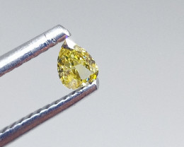 0.12ct Fancy Intense greenish Yellow  Diamond , 100% Natural Untreated