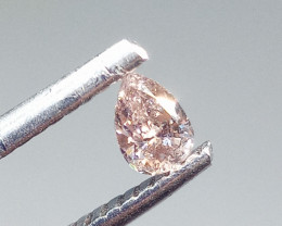 0.185ct  Fancy Light Pink Diamond , 100% Natural Untreated