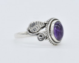 AMETHYST RING 925 STERLING SILVER NATURAL GEMSTONE JR157