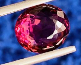 3.84 ct red color  Tourmaline Gemstone