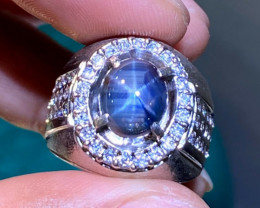 Certifed !! Natural Blue Star Sapphire
