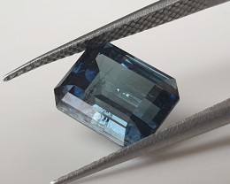 3,65ct Steel blue Tourmaline - Master cut & rare colour
