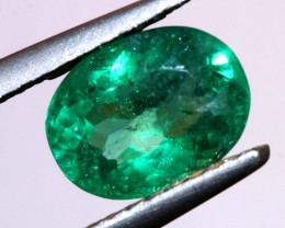 1.33CTS CERTIFIED  BRAZIL EMERALD FACETED  TBM-1097
