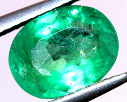 2.10CTS CERTIFIED  BRAZIL EMERALD FACETED  TBM-1096