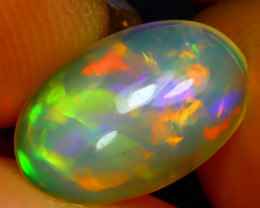 Welo Opal 2.00Ct Natural Ethiopian Play of Color Opal D0916/A28