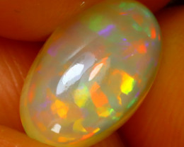 Welo Opal 1.13Ct Natural Ethiopian Play of Color Opal D0918/A28