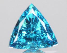 0.03 Cts Natural Diamond Flashing Blue 2mm Trillion Africa