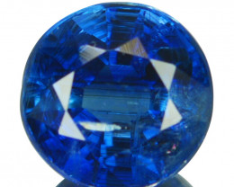1.36 Cts Natural Royal Blue Kyanite 6.4mm Round Cut Nepal