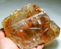 Stunning Natural color Gemmy Rutile double Termination Quartz crystal 3725C