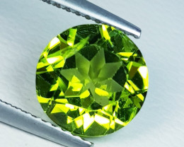 2.96 ct  AAA  Quality Gem  Round Cut Top Luster Natural Peridot