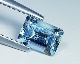 0.75 ct Excellent Gem Excellent Emerald Cut Natural Aquamarine