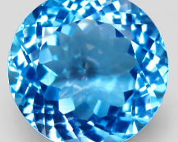 28.97 ct. Natural Top Quality Swiss Blue Topaz Brazil – IGE Certificate