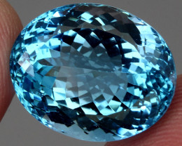 28.69 ct. 100% Natural Earth Mined Top Quality Blue Topaz Brazil