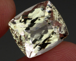 22.84 Ct. Natural Earth Mined  Antique Cut Green Kunzite Unheated