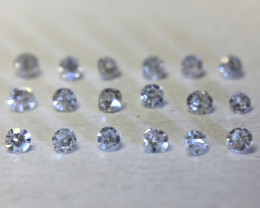 Listed for Val 0.08 ct 18 x G - N Si/I1 Single Cut Diamonds