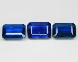 3.18 Cts 3 Pcs Fancy Royal Blue Color Natural Kyanite Gemstone