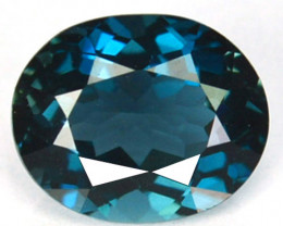 ~AWESOME~ 1.60 Cts Natural London Blue Topaz Oval Cut Brazil