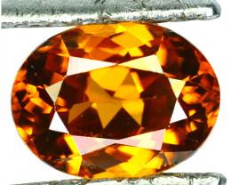 ~BRILLIANT~ 2.18 Cts Natural Imperial Orange Zircon Oval Cut Tanzania