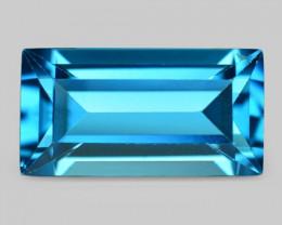 8.96 Carat London Blue Natural Topaz Gemstone