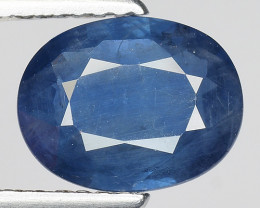 1.82 CT AIG CERT BLUE SAPPHIRE TOP LUSTER GEMSTONE AFRICA