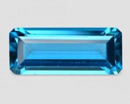 6.00 Carat Swiss Light Blue Natural Topaz Gemstone