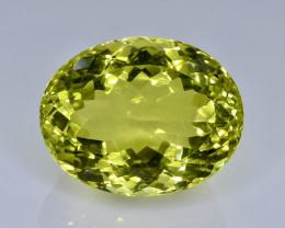 30.83 Crt  Lemon Quartz Faceted Gemstone (Rk-75)